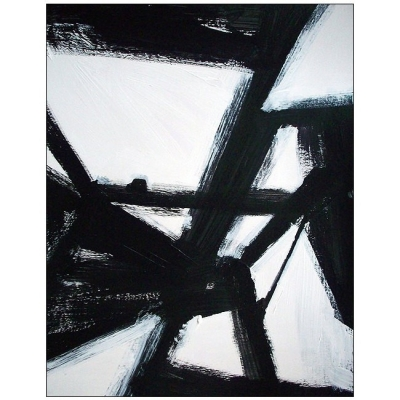 Abstract Black And White Modern Painting By Elston